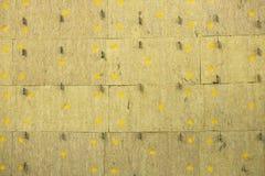 Echowy absorber kanapki panel dla ściany Tło żółci apretura bloki struktura Obraz Stock