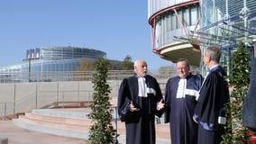 ECHR судит ждать президента француза Emmanuel Macron сток-видео
