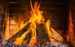 Echt brandhout Royalty-vrije Stock Afbeeldingen