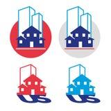 Echt-landgoed-symbolen vector illustratie
