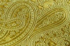 Echt leer met een abstract ornament Close-up op een leertextuur Voor modern patroon, behang of bannerontwerp Royalty-vrije Stock Afbeeldingen