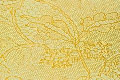 Echt leer met een abstract ornament, tedere kleur Close-up op een leertextuur Voor modern patroon, behang of Stock Afbeelding