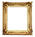 Echt oud antiek gouden geïsoleerd frame Royalty-vrije Stock Afbeelding