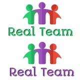 Echt team/groepswerk logotype malplaatje Stock Foto's
