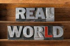 Echt werelddienblad royalty-vrije stock afbeelding