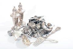 Echt Zilveren Schroot Royalty-vrije Stock Foto's