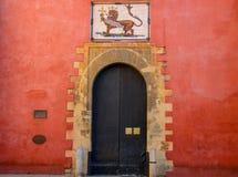 Echte Alcazar-vesting in Sevilla royalty-vrije stock fotografie