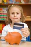 Echte bank of piggy-bank? Royalty-vrije Stock Afbeeldingen