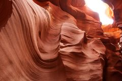 Echte beelden van de lagere Antilopecanion in Arizona, de V.S. Stock Afbeelding