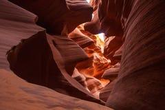 Echte beelden van de lagere Antilopecanion in Arizona, de V.S. Royalty-vrije Stock Foto's