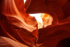 Echte beelden van de lagere Antilopecanion in Arizona, de V.S. Stock Foto's