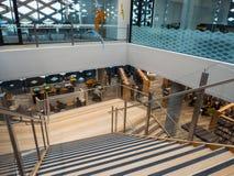 Echte Bibliotheek, het Leren en Cultureel Centrum in Ringwood in de oostelijke voorsteden van Melbourne Royalty-vrije Stock Afbeelding