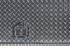 Echte diamantplaat met slot Stock Afbeeldingen