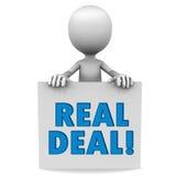 Echte overeenkomst Stock Foto's