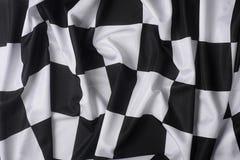 Echte golvende geruite vlag royalty-vrije stock afbeeldingen