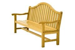 Echte houten bank. geïsoleerdh Royalty-vrije Stock Foto