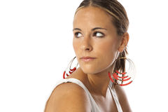 Echte jonge mooie vrouw Royalty-vrije Stock Foto