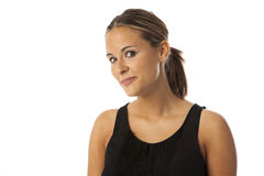 Echte jonge mooie vrouw Royalty-vrije Stock Afbeelding