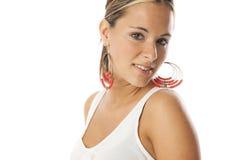 Echte jonge mooie vrouw Stock Fotografie