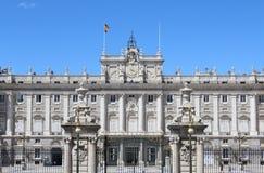 Echte Palacio, Royal Palace, Madrid, Spanje Royalty-vrije Stock Foto's