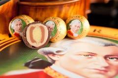 Echte Salzburger Mozartkugeln par Mirabell Photo stock