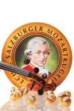 Echte Salzburger Mozartkugeln vid Mirabell Royaltyfri Bild