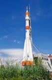 Echte Soyuz-type raket als monument Royalty-vrije Stock Afbeeldingen