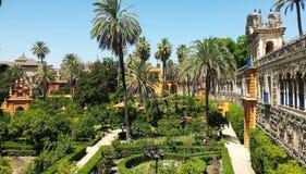 Echte Tuinen Alcazar in Sevilla Spanje Royalty-vrije Stock Afbeelding