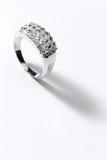Echte Zilveren Ring Royalty-vrije Stock Foto