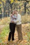 Echtgenoot & zijn zwangere vrouw Stock Foto