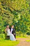 Echtgenoot en vrouw bij het paleis royalty-vrije stock foto