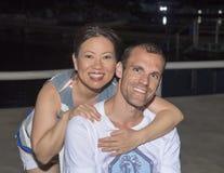 Echtgenoot en vrouw die van vakantie genieten Royalty-vrije Stock Afbeelding