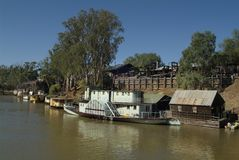 Australia, VIC, Echuca. Echuca, VIC, Australia - different vintage paddlesteamers on Murray river on port of Echuca Royalty Free Stock Photography