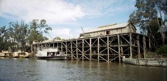 Echuca Wharf Royalty Free Stock Images