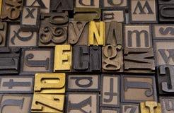 Ecig w drewnianym typeset Fotografia Stock