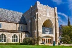 Eck centrum na kampusie Notre Damae uniwersytet obraz royalty free