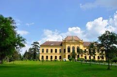 Eckartsau, †de l'Autriche «le 24 mai 2016 : Un manoir Eckartsau et parc adjacent photographie stock libre de droits
