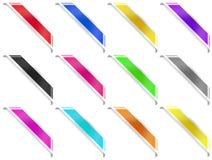 12 Eckbänder mit Bändern Lizenzfreie Stockfotografie
