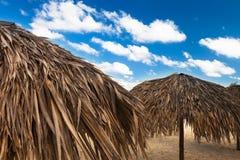 Eckchairs auf Strand Lizenzfreie Stockfotografie