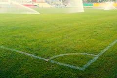Ecke auf einem Fußballplatz Lizenzfreies Stockbild
