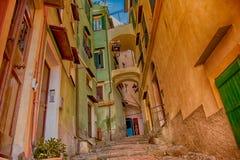 Ecke der alten Stadt von Sanremo Stockbild