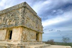 Ecke des Gouverneur ` s Palastes in Uxmal-Ruinen Stockfoto