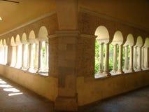 Ecke des Klosters der Abtei von Fossanova im Latium in Italien Lizenzfreies Stockbild