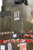 Ecke des Wenceslas-Denkmales mit Havels pic. Lizenzfreie Stockfotos