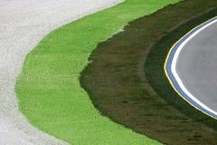 Ecke einer Rennenspur der Formel 1 Lizenzfreies Stockbild