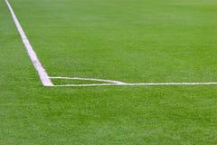Ecke eines Fußballplatzes Lizenzfreie Stockbilder