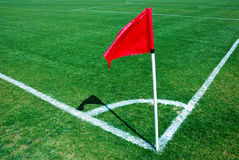 Ecke, rote Fahne Lizenzfreies Stockfoto