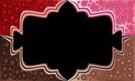 Ecken des Kuchens mit Schokoladenbällen Schokolade, Erdbeere, roter Samt Dieses ist Datei des Formats EPS8 Lizenzfreie Stockfotografie