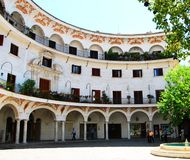 Ecken von Sevilla Stockfotos