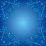 Eckenmuster auf einem blauen Hintergrund, Stockfoto